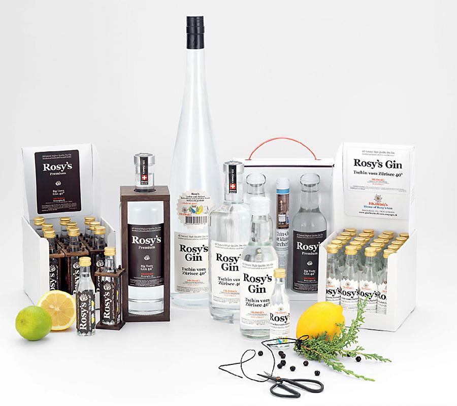 Rosy's Gin Premium Liköre aus Zürich